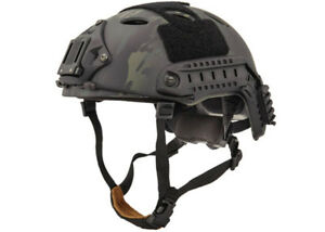 Lancer Tactical PJ Type Helmet (Black CamoM - L) 31479