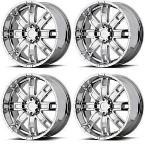 Set 4 17 Helo He835 Chrome Rims 17x8 6x5 5 0mm Cadillac Chevy Gmc Sierra 6 Lug