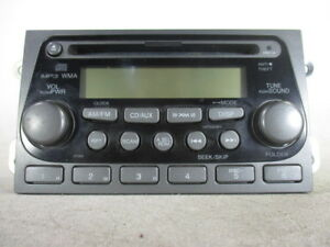 05 06 Honda Element Radio Xm Stereo Cd Disc Player Mp3 39101 Scv A120 M1 Oem