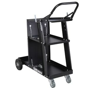 Welder Welding Cart Plasma Cutter Mig Tig Arc Universal Storage For Tanks Tool