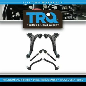 6 Piece Suspension Kit Lower Control Arms Ball Joints W Inner Outer Tie Rods