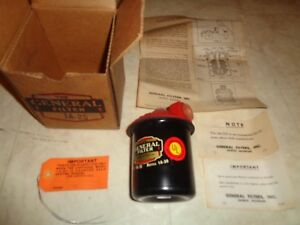 Vintage Nos 1951 General Fuel Oil Filter 1a 25a 40 S 50 S Ford Chevy Dodge