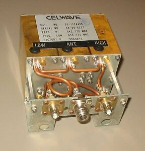 Celwave Uhf Duplexer 910 960 9 24 Mhz Split Tuned To 955 8 959 4