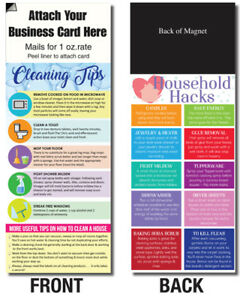 Adcard Cleaning Household Hack Tips Magnetic Business Card Info Customer Handout