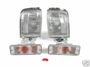 Depo Clear Corner Bumper Signal Lights For 1987 1988 Toyota Pickup Truck 4wd