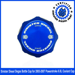 Sinister Diesel Degas Bottle Cap For 2003 2007 Powerstroke 6 0l Coolant Cap