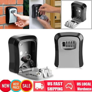2pack 4 Digit Combination Key Holder Safe Security Storage Box Lock Wall Mount