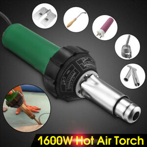 Mutilfunctional 1600w Hot Air Torch Plastic Welder Welding Heat Gun Pistol Kit