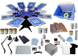 Techtongda Screen Printing Kit Press 8 Color Silk Screen Printing Machine Screen