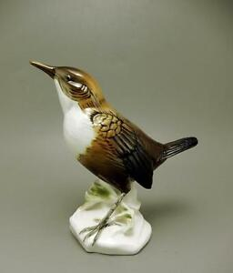Fine Karl Ens Porcelain Figurine Of A White Throated Dipper Bird Of Norway