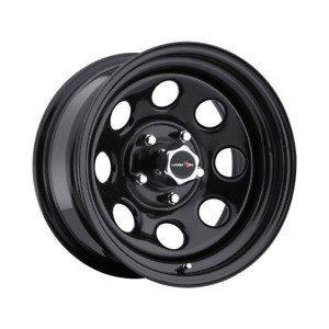 Set 4 15x8 19 5x139 7 5x5 5 Vision Soft 8 Black Wheels Rims 15 Inch 49666