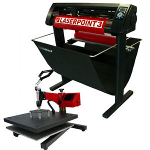 34 Laserpoint 3 Vinyl Cutter W arms 15 X 15 Digital Swing Arm Heat Press