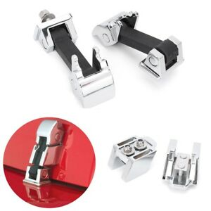 2x Aluminum Hood Catch Lock Latches Kit For Jeep Wrangler Jk Unlimited Jk 07 16