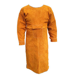 40 5 L Leather Bib Welding Apron Heat Insulation Protection Safety Apron Coats