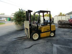 Yale Glp060 6000 Lb Forklift Pneumatictires Automatic Propane Side Shift 403 Hrs