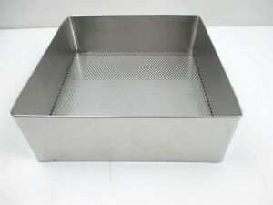 Weck Pilling Surgical Stainless Steel Tray Perforated Mesh Bottom 10 X 10 1 2