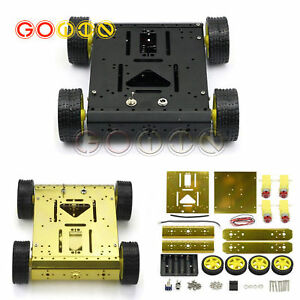 4wd Drive Arduino Uno Mega2560 Robot Wheels Frame Aluminum Alloy Chassis