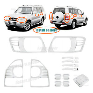 Accessories Chrome Molding Covers Trims For 2003 2006 Mitsubishi Montero Suv