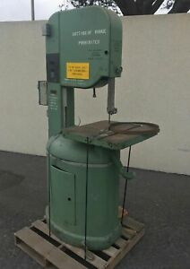 Yates American Model J 120 Vertical Band Saw Wood 20 Vintage Made In Usa