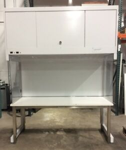 Clean Air Cap 412 6 Vertical Laminar Flow Workstation Clean Bench Hepa 120vac