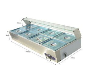 8 pan Bain marie Buffet Steam Table Restaurant Food Warmer 110v Higha quality