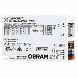 Osram Optotronic Ot 35 220 240 700 Ltcs Constant Current Led Driver Power Supply