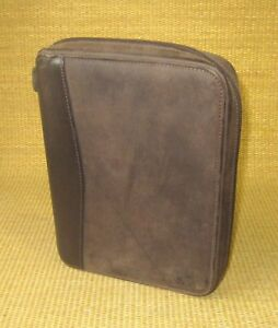 Classic 1 25 Rings Brown Distressed Leather Franklin Covey Planner binder