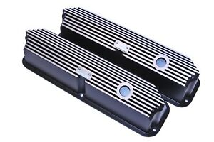 Brand New Ford Fe All Fins Black Valve Covers