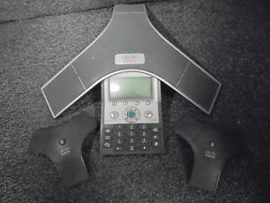 Cisco 7937 Ip Conference Station Uc Phone Cp 7937g W x2 Microphones k519273