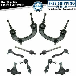 12 Piece Kit Control Arm Ball Joint Tie Rod End Sway Bar Link Lh Rh Set New