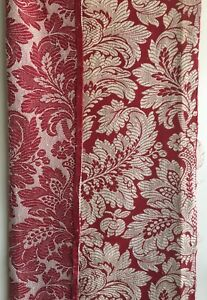 Beautiful Mid 20th C French Cotton Woven Damask Fabric 2373