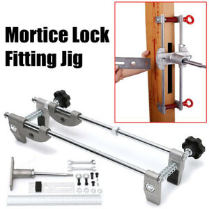 Mortice Lock Fitting Jig Set Mortiser Wooden Door Slot Clamp Folder With Wrench