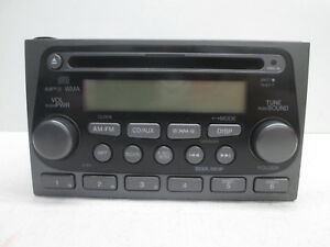 05 06 Honda Element Single Cd Satellite Radio Receiver W Auxillary 2tw3 Oem Lkq