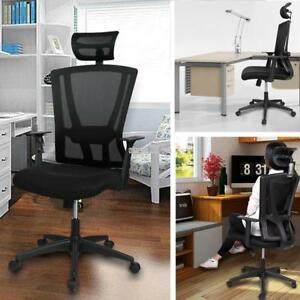 Durable Office Ergonomic High Back Mesh Chair With Adjustable Headrest