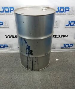55 Gallon 1 5 Mm Closed Stainless Steel Drums Stainless Steel Barrels Thick