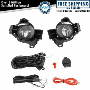 Add On Upgrade Clear Lens Fog Light Bulb Switch Wiring Kit For Nissan Altima