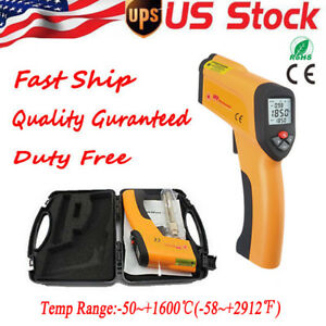 Non contact Digital Ir Infrared Temperature Gun Meter Thermometer 58 2912