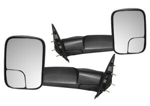 New Adr Flip Up Black Towing Mirrors For 2002 2008 Dodge Ram 1500 2500 3500