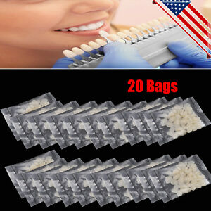 20pack Dental Temporary Crown Patch Porcelain Front Anterior Teeth Tooth Cover S