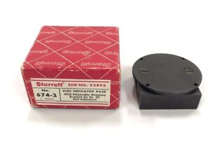 Starrett 674 2 Dial Indicator Back With Adjustable Mounting Bracket For No 25