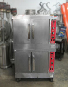 Vulcan Sg4d Commercial Restaurant 2 Single Convection Ovens Nat Gas