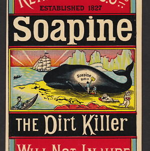 Arctic Whale Ship Eskimo 1800s Soapine Soap 19th Century Advertising Trade Card