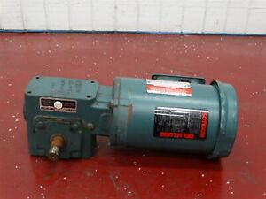 Reliance B76r8158r Electric Motor 3 4hp 230 460v 2 2 1 1a W Reducer Shaft 3 4