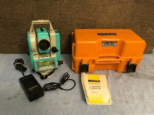Nikon Dtm 330 Total Station Made In Japan W Case And Charger