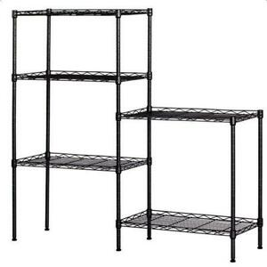 New Wire Shelving 5 Tier Storage Rack Shelf Shelf Shelves Unit Kitchen Organizer