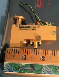 Millitech 47445h 1011 Wr12 60 90 Ghz Broadband Harmonic Mixer W if Preamp