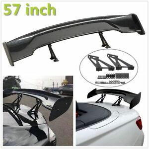Universal 57 Abs Carbon Fiber Car Gt Style Rear Trunk Spoiler Wing Adjustable