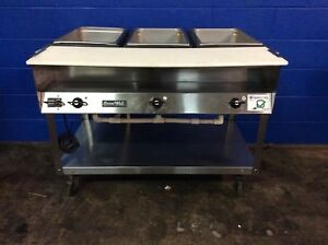 Vollrath 38003 Servewell Commercial Electric 3 Well Hot Food Steam Table 120v