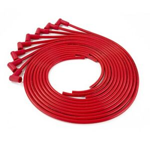 Red Universal Small Block Chevy 327 350 400 Hei Spark Plug Wires Under Exhaust