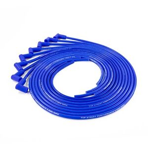 Blue 8 5mm Silicone Universal 90 Degree Spark Plug Wire Set 8 Cyl Sprial Core